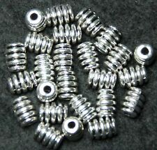 TIBETAN ANTIQUE SILVER COLOUR SPIRAL BEADS (BBA096)