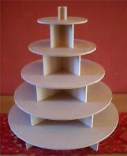 5 TIER ROUND CUPCAKE PARTY WEDDING CAKE / BUFFET STAND