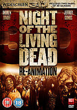 Night Of The Living Dead Re-animation 3D and 2D New Unopened 2 FREE Glasses Inc