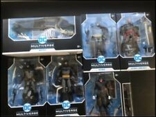 Mcfarlane dc multiverse Batman  Set Of 5 Figures + Batcycle New
