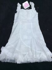 BNWT Girls White Appliqué Dress By CHILLIFUEGO (5-6 Yrs) *FREE UK P&P*
