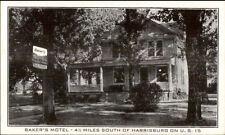 LeMoyne PA Baker's Motel Postcard