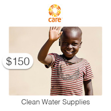 $150 Charitable Donation For: Clean Water Supplies