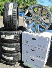 "22"" Escalade Factory Style Silver Chrome Wheels OEM Caps Bridgestone Tires 4739"
