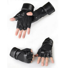 Anti-skid Half Finger Gym Gloves Sports Body Building Training Wrist Gloves L