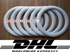 Firestone tire style 16'' White Wall Tyre Insert Trim Port-a-wall - Set of 6.