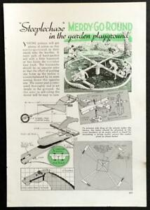 Steeplechase Backyard Merry-Go-Round 1939 HowTo build PLANS