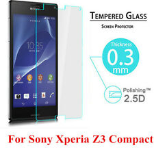 Real Tempered Glass Screen Protection Film For Sony Xperia Z3 Compact New