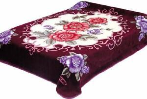 Solaron Blanket throw Thick Ultra Fine Polyester Mink Plush Flower Heavy Weight