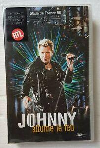 "JOHNNY HALLYDAY ( VHS NEUVE ) ♦ ""ALLUME LE FEU"" - SDF 98 ♦"