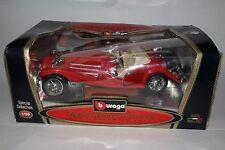 BURAGO 1936 MERCEDES BENZ 500 K ROADSTER RED 1/20TH SCALE