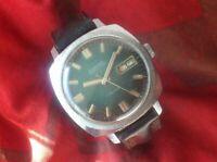 Vintage Watch Vostok Wostok 2428 Russian Soviet Wristwatch Color Emerald USSR