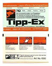 30 Blatt TIPP EX Korrekturpapier für Schreibmaschine universal Nr. 1000 **RAR**