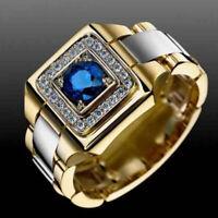 Ring 62 66 Fingerring Herrenring Gold Silber zweifarbig  Herrenschmuck Goldring
