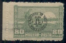HUNGARY 2nd DEBRECEN issue, 1920, 3N17, 80f INVERTED OVPT LH