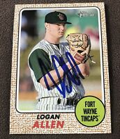 Logan Allen Signed 2017 Topps Heritage Minors Autographed Auto Card Padres RC