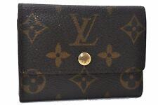 Authentic Louis Vuitton Monogram Porte Monnaie Plat Coin Case M61930 LV D8175