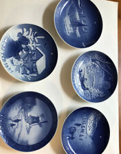 Lot of 5 Royal Copenhagen Danish Blue Xmas Plates 1963, 1966, 1967, 1970, 1972