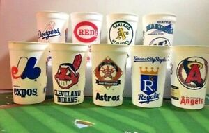 Vintage 1994 Icee 10 Major League Baseball Team 24 Oz. Plastic Cups