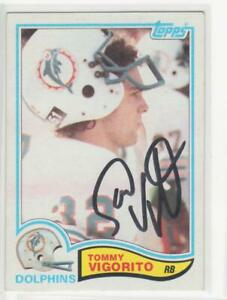 TOMMY VIGORITO MIAMI DOLPHINS 1982 TOPPS #137 VIRGINIA  AUTOGRAPHED CARD