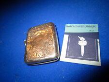 Periodo edoardiano Birmingham 1905 Silver Match Holder VESTA CASE corrispondenza sicuri Striker
