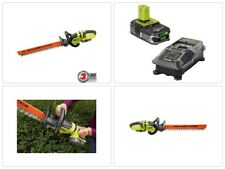 Cordless Hedge Trimmer 22 in. Dual Action Blades 18V Lithium-Ion Battery Ryobi
