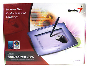 GENIUS MousePen 8x6 Graphic Tablet Home Office Draw Paint BRAND NEW SEALED!