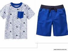 GYMBOREE NWT BOYS JAWSOME TEE TOP AND SHORTS OUTFIT 12-18 MONTHS