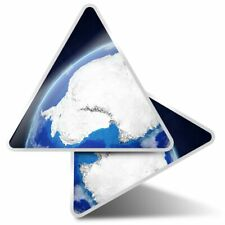 2 x Triangle Stickers 10 cm - Antarctica From Space Planet Earth  #21142