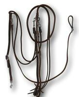 D.A. Brand Chestnut Leather German Martingale/ Reins Set Western Horse Tack