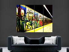 Graffiti Poster Metropolitana Tubo treno Muro Immagine Stampa Gigante Arte