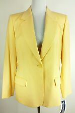 Pendleton Women's 100% Wool Blazer Lined Yellow sz 12 Petite New with Tags