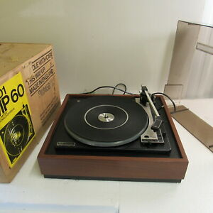 VINTAGE BSR McDonald MP60 Turntable Record Player / See video working