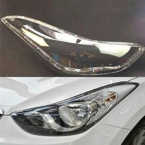 Pair For Hyundai Elantra 2012~2016 Headlamp Cover Replacement Car Headlight Lens