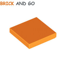Lego 4x Tile plaque lisse 1x4 with Groove brigh light orange clair 2431 NEUF