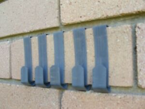 5 Brick Wall Clips. Proudly Aussie Made. No Tools or screws. Easily installed.