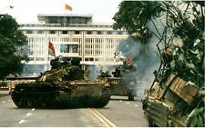 Vietnam War Saigon Under Seige Falls To Viet Cong April 1975 8.5x11 Rare Photo