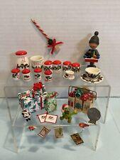 Vintage Artisan Christmas Decor Dishes & Decorations Dollhouse Miniature 1:12