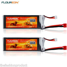 2x 11.1V 5500mAh 3S 35C Lipo RC Batteria Per RC Elicottero Aereo RC Auto Hobby