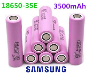 Batteria litio ricaricabile Samsung INR 18650 35E 3500mAh 3.7V Li-ion Originale