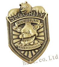 "Badge Pin Silver Holiday Gift 2"" New Fnaf Five Nights at Freddy's Security"