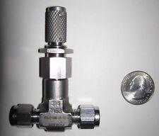 """Parker Metering Valve, 316 Stainless Steel, 1/4"""" Compression, 4Z(A)-NML-V-SS-K"""