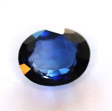 10,00 ct  Saphir de Labo bleu profond