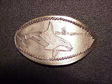 Orca Killer Shark Six Flags . By G.W.E On Elongated Jefferson Nickel.B5 #105