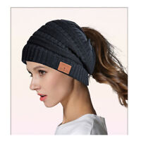 Bluetooth Headphone Warm Beanie Hat Smart Music Cap Headset Speaker Mic