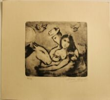 Etching  MARC CHAGALL  signed by hand,gravure,radierung,aguafuerte