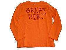 NEU Topolino tolles Langarm Shirt Gr. 116 orange mit rotem Schriftzugdruck !