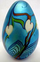 Signed and Dated Orient & Flume Hanging Hearts Pulled Feather Paperweight 1978