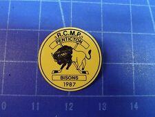 RCMP Penticton Bisons Hockey Pin. 1987 Team. Penticton British Columbia