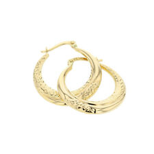 Echt Gold Damen Ohrringe Creolen Gelbgold in 585 Gold 14Karat 2859